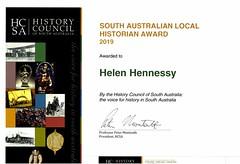 Helen Hennessey History award