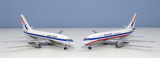 United Airlines Boeing 737-222s N9001U and N9008U
