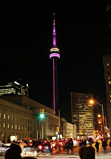 Shot of the CN Tower near Union Station