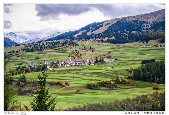 Swiss Alps - Autumn panorama - NZ6_3378