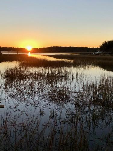 beaufort saltmarsh southcarolina sundial sunrise
