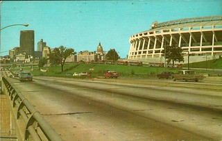 Atlanta Skyline and Atlanta Stadium
