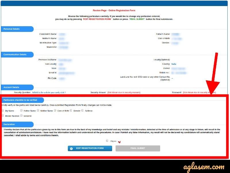 PUBDET / PUMDET registration form