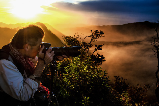 A Photographer Shoots Mount Bromo, Indonesia