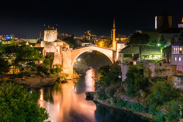 Mostar / Old Bridge by night