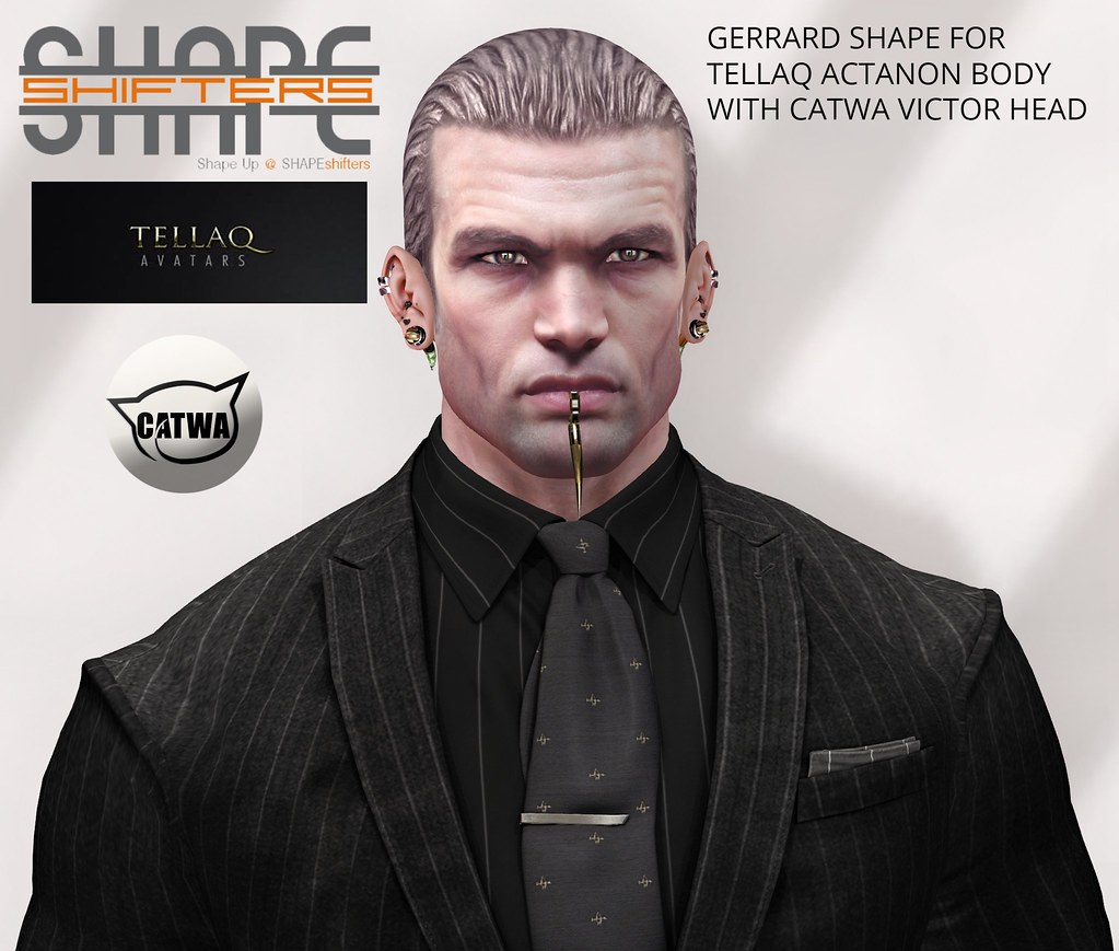 [SHAPEshifters] GERRARD SHAPE FOR TELLAQ ACTANON BODY & CATWA HEAD VICTOR