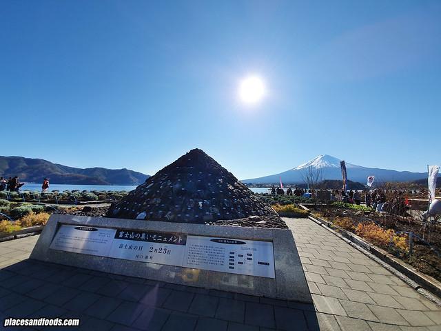 mount fuji lake kawaguchi stone mountain