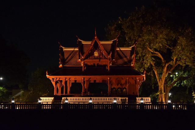 Santi Chai Prakan at Night