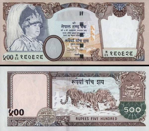 500 Rupií Nepál 2002 P50