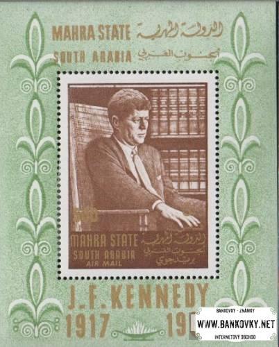 Známky Aden Mahra State 1967 John Kennedy MNH
