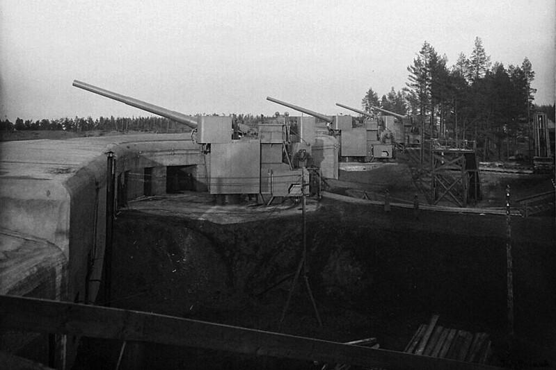 """12-дюймовые батареи форта """"Красная Горка"""", 1914 год. из фондов ВИМАИВ и ВС"""