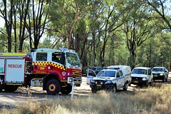 Narrabri Fire & Rescue, Police & Santos vehicles