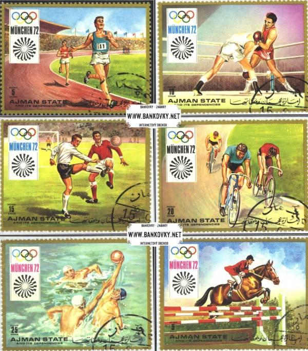 Známky Ajman 1971 LOH Mnícho, razítkovaná séria