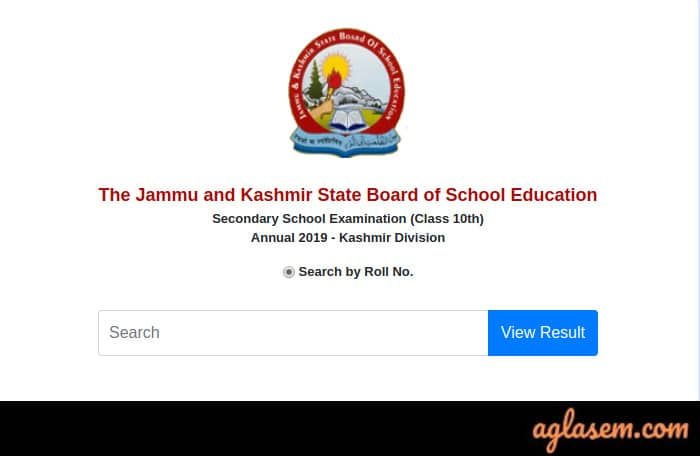 JKBOSE 10th Annual Result 2019 Kashmir Division