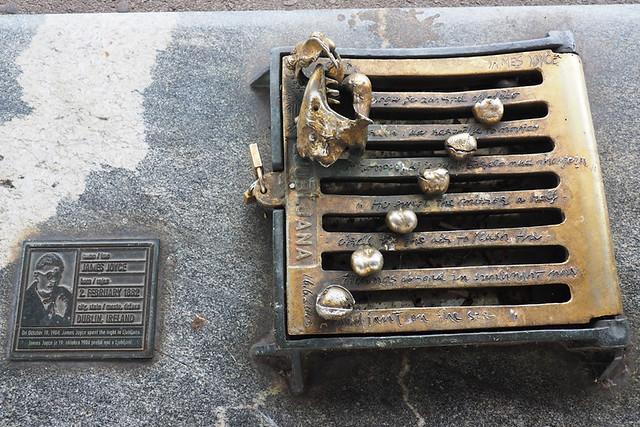 James Joyce plaque, Ljubljana, Slovenia