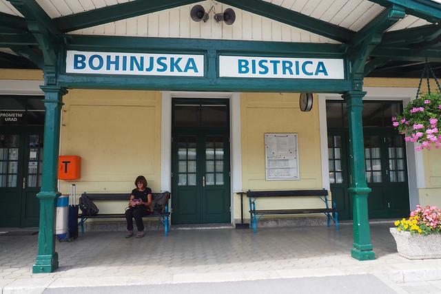 Bohinjska Bistrica train station, Slovenia