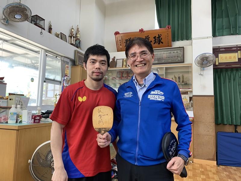 體育署長高俊雄、莊智淵。(圖/體育署提供)