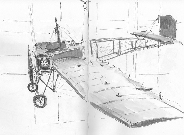 Aeroplane in a museum