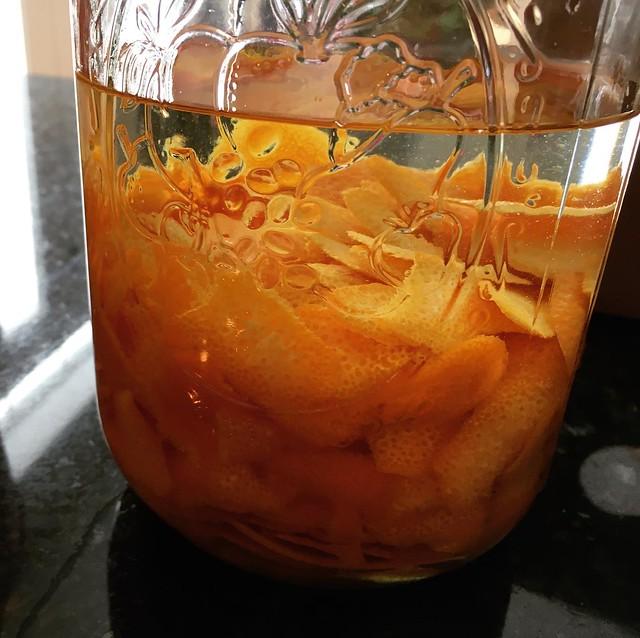 orange peels and everclear