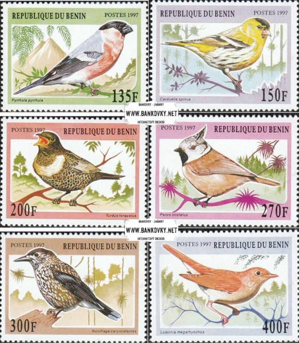 Známky Benin 1997 Spevaví vtáci nerazítkovaná séria MNH