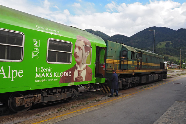 The car train at Bohinjska Bistrica.