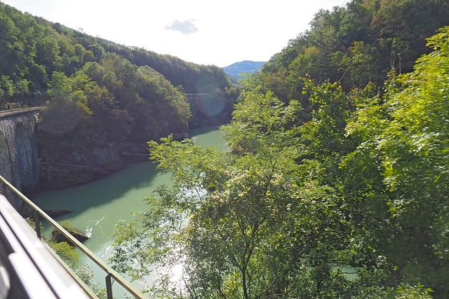 View from the Bohinjska Bistrica train, Slovenia