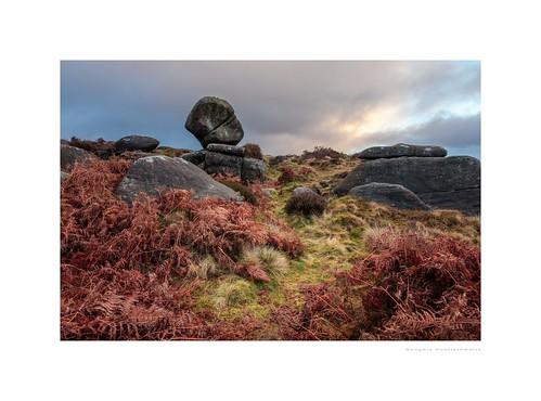 derbyshire owlertor peakdistrict unlimitedphotos bracken clouds grass landscape moorland outdoor photoborder rocks sky