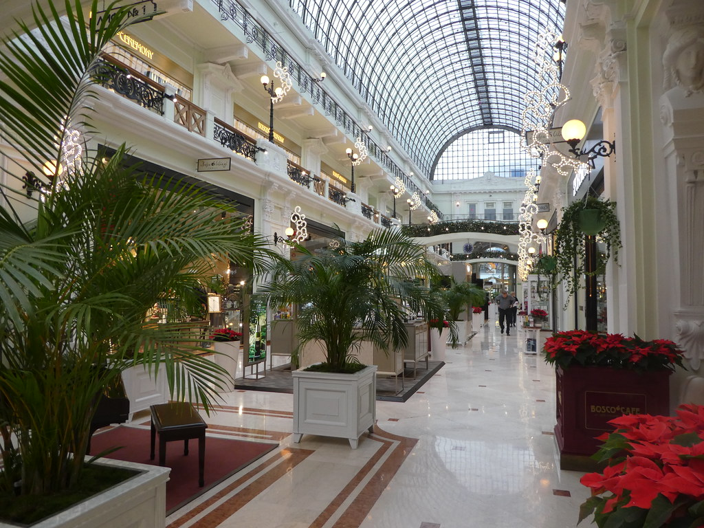 A luxurious arcade in central Moscow