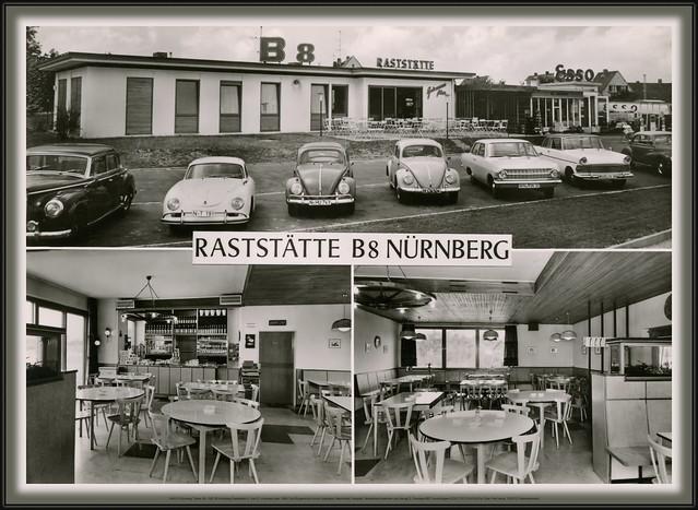 7443 R Nürnberg Trierer Str. 168  85 Nürnberg Raststätte H. Und E. Hinzmann jahr 1958.