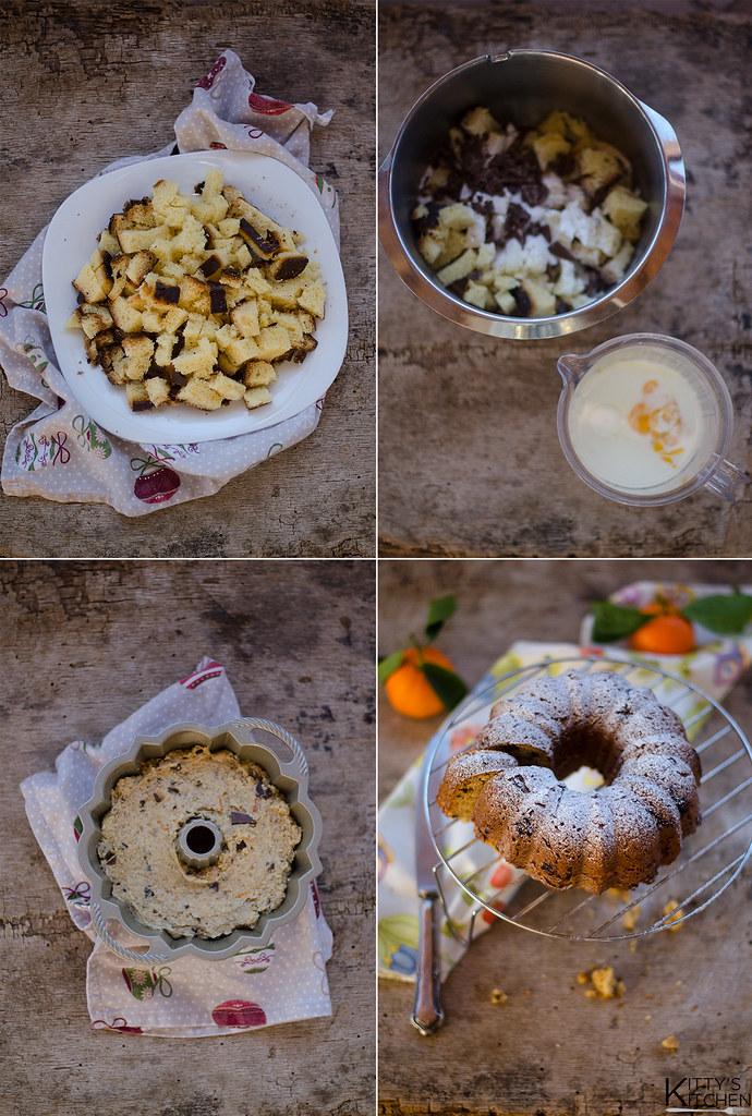 Ciambella pandoro, mandarino e cioccolato