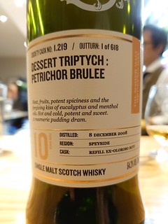 SMWS 1.219 - Dessert triptych: Petrichor brulee
