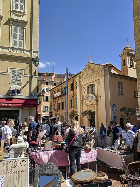 Saleya Marche a la Brocante, Nice