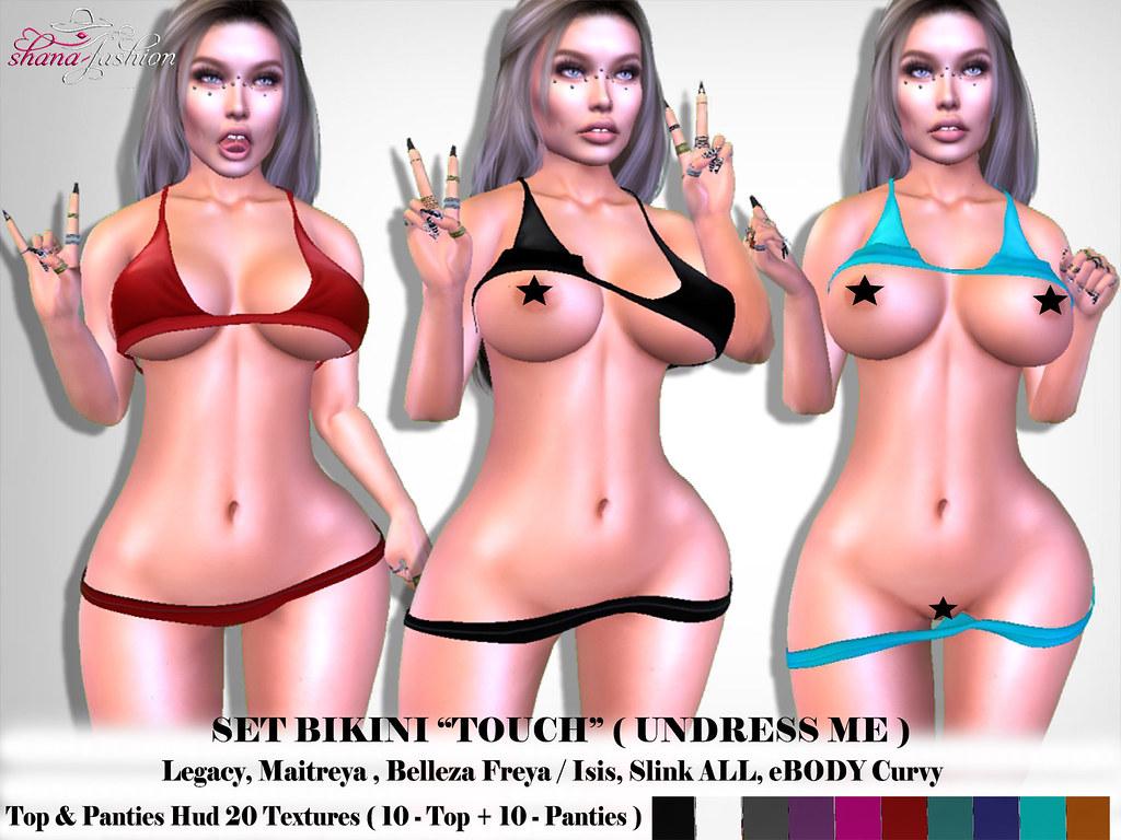 Set Bikini TOUCH _ Undress me _ 20 Textures
