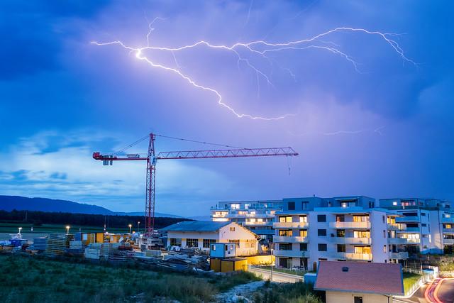 Eclair à Cossonay, Suisse - Lightning bolt, Cossonay, Switzerland