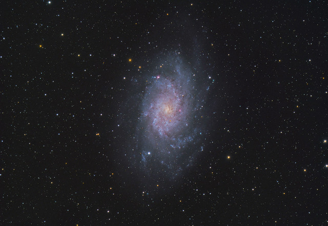 Triangulum Galaxy through Telescope