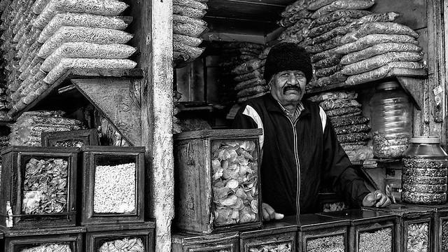 Darjeeling - Marchand au Chauk Bazar