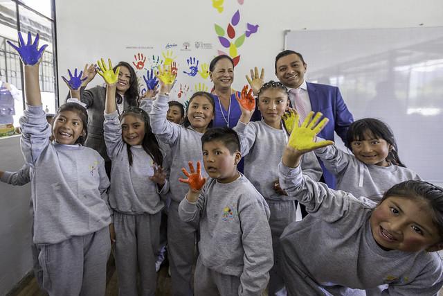 Reapertura de la Escuela de Educación Básica Germán Flor Comunidad Umbría - Machachi