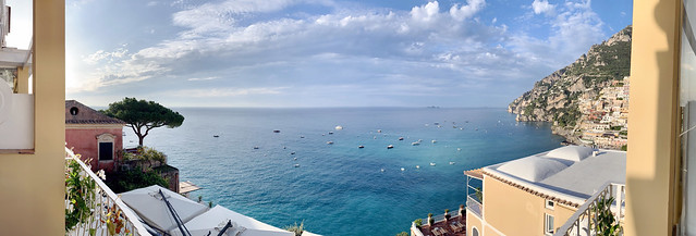 Italy 2019, Positano, Hotel Marincanto, panoramic ocean view from our balcony 2