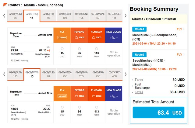 JejuAir Manila to Seoul Promo