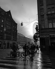 #blackandwhite #streetphotography #rainy #MadameTussauds #DamSquare #silhouette