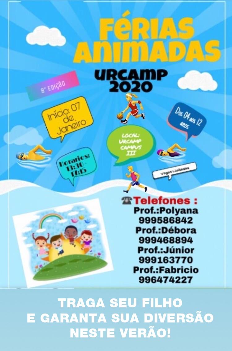 Venha conferir as Férias Animadas 2020 na Urcamp! Inscrições abertas!