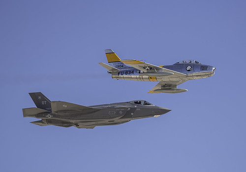 F-35A and F-86 Heritage Flight