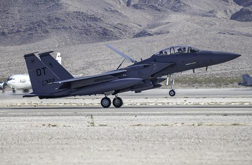 F-15E Stike Eagle on Her Main Gear