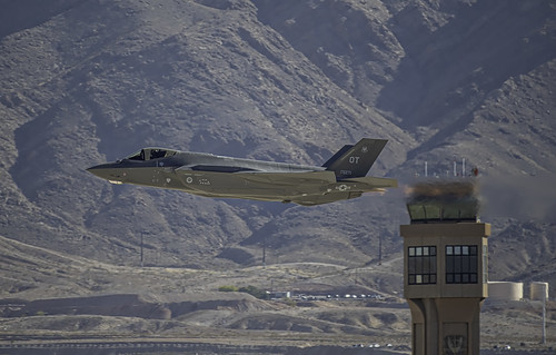 F-35A in Front of the Tower