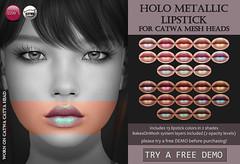 Catwa Holo Metallic Lipstick (for FLF)