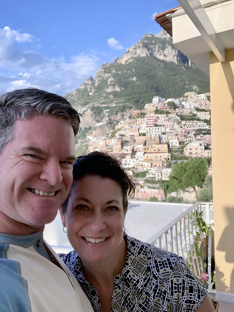 Italy 2019, Positano, Hotel Marincanto, couples' selfie on our balcony