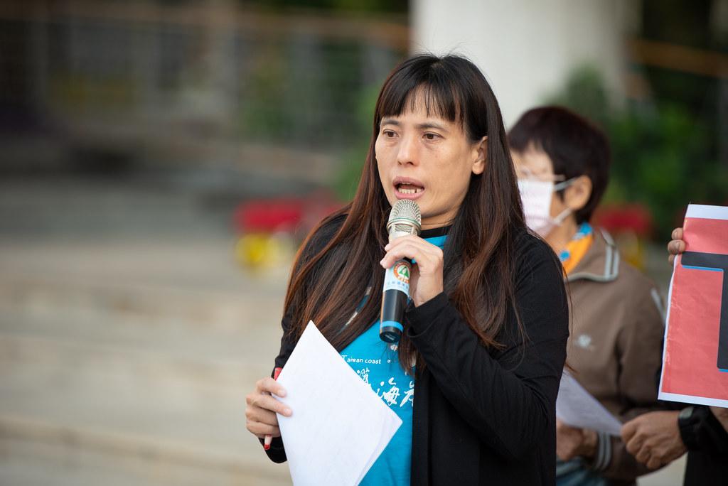 彰化縣環境保護聯盟總幹事施月英公開評比結果。彰化縣環保聯盟提供