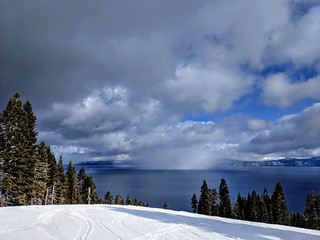 Squall on Lake Tahoe.