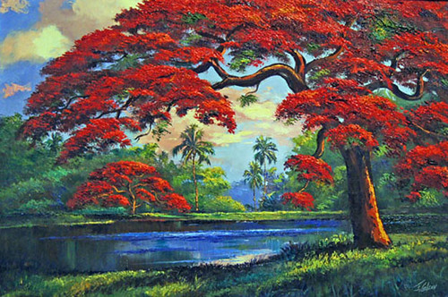 "Painting by James Gibson. ""Living Color: The Art of the Highwaymen"" Opening Reception"