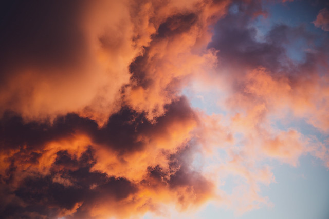 heavenly clouds at sunset [Day 4026]